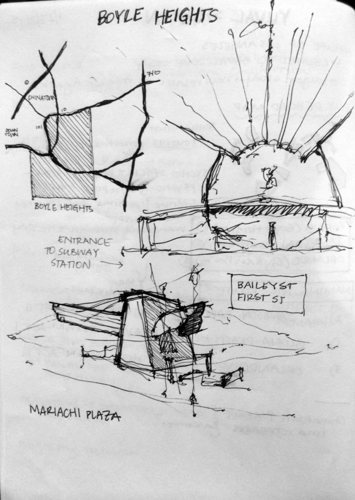 Mariachi Plaza Sketch 2